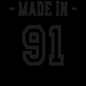 Made in 91 Geschenk Geburtsjahr 1991 Geburtstag