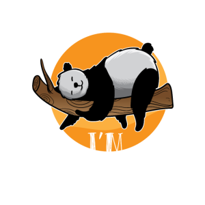 Im not lazy shirt im on Energy saving Pandabär