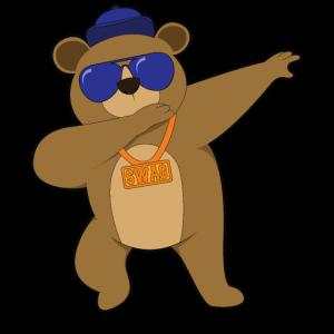 Dabbing Tiere cool gangster Bär