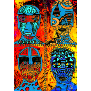 SH African Faces Quartett 01
