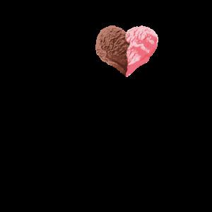 Lustiges Nachtisch-Lebensmittel, das ich Eiscreme liebe