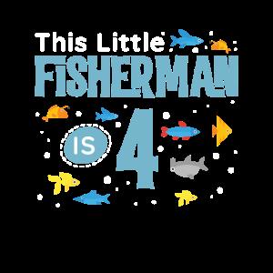 Kinder 4. Geburtstag Junge Fischer, Fisch Geburtstag