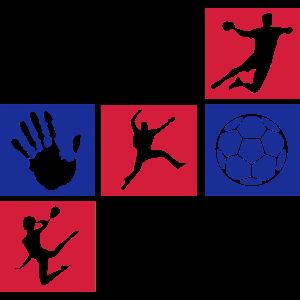 Handball Mosaik klein