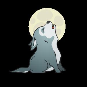 Netter Wolf Pup - heulender Baby-Hundewelpe