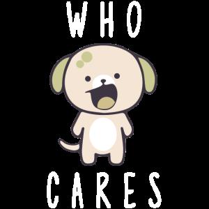 Who cares Hund Plüschtier Kuscheltier teddybär