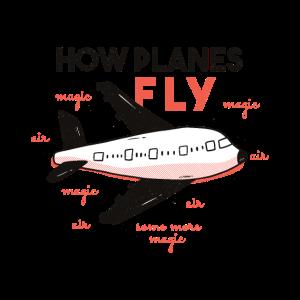 Lustiges wie fliegen Flugzeuge T-Shirt Flugzeug