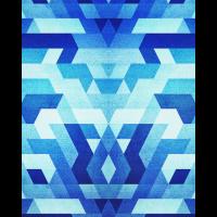 Blue Minimal Dreieck Muster / Geometrie Handycas