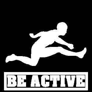 Sei aktiv Läufer