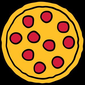 salami pizza rund kreis scheiben