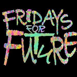 Fridays for future bunter Vintage Schriftzug