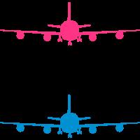 flugzeug silhouette landung fahrwerk abheben muste