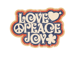 love peace joy 1969 Hippie Design Geschenk