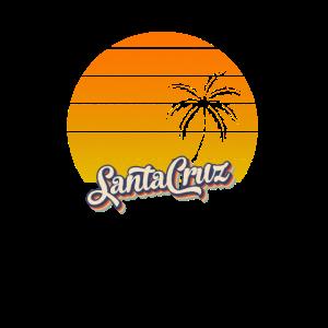 70s surf Retro Sonnenuntergang Palmen SantaCruz