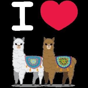 I love Llamas | Ich liebe Lamas Alpakas