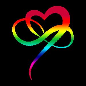 Infinity Heart LGBTQ Geschenk Buntes Herz Liebe
