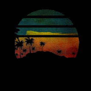 Sunset Beach bunt Sonnenuntergang Strand Palmen