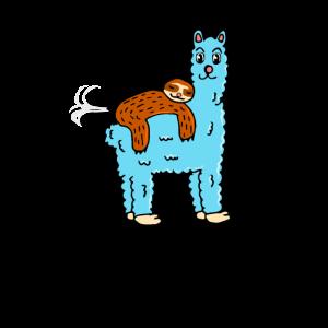 Alpaka und Faultier