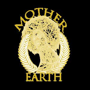 MOTHER EARTH | Federn | AFRO | GEOMETRIE ZEICHNUNG