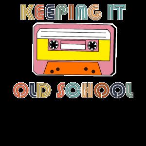 Kassette Retro Band Vintage Kassettenband Geschenk