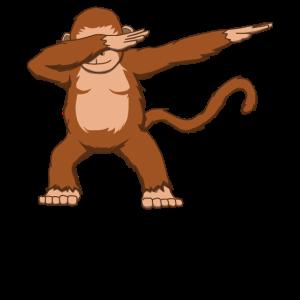 Affe Äffchen Gorilla Schimpanse Dabbing Geschenk