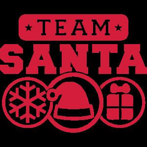 Team Santa (Schriftzug) 02
