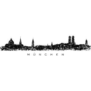 München Skyline Vintage Schwarz
