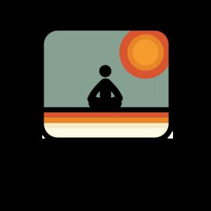 Vintage Meditation Achtsamkeit Geschenk