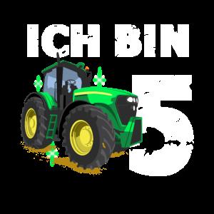 Geburtstag Junge Traktor Ich bin 5 Jahre