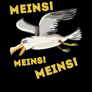 Lustige Möwe Meins Meins Meins! Kinder T-Shirt