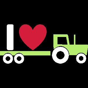 ★ Designfarben änderbar ★ I love tractors