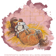 Motiv ~ Thelwell - Pony hat Krankenbesuch