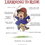 Design ~ Thelwell - Learning to ride