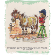 Design ~ Thelwell - Pony beim Friseur