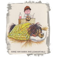 Motiv ~ Thelwell - Pony unter der Bettdecke