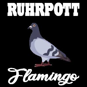 Ruhrpott Flamingo Fun Tauben