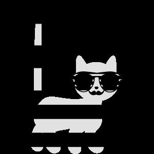 gestreifte Katze mit Schnurrbart