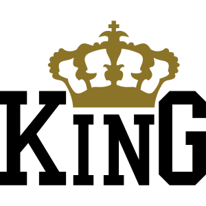 king krone design text logo cool