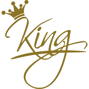 king text logo design cool chef krone