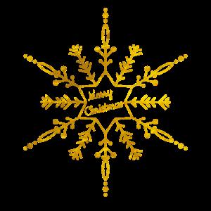 Schneeflocke Gold snowflake golden merry christmas