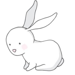 Baby Rabbit sitting