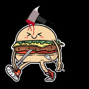 Burger Ketchup Fast Food Speise Fantasy Horror