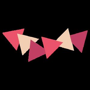 Schwimmende Dreiecke