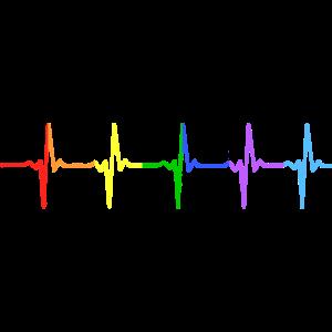 Regenbogen Puls Gay Pride LGBT