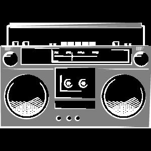 ghettoblaster boombox music recorder radio