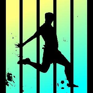 Retro Fußball Geschenk Fußballer Anstoss Vintage