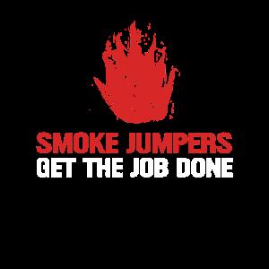 Wildland Firefighter Smokejumper Dünne rote Linie