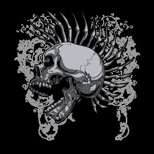 Punk Goth Schädel