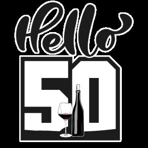 Hello 50 - 50. Geburtstag - Design