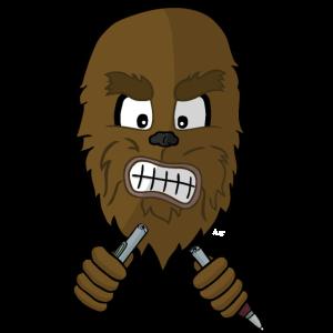Comic Wookie Zeichnung (Krieg der Sterne)