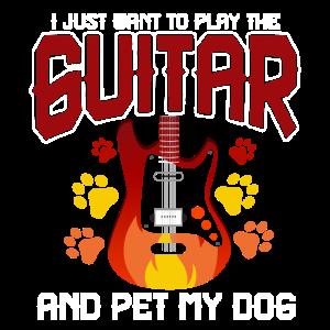 Hund Gitarre